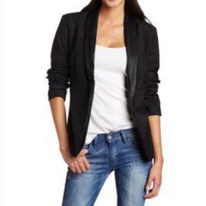 BB Dakota Black Tuxedo Jacket Blazer w/ Satin Trim